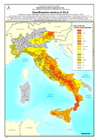 Seismic zones in Italy